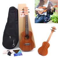 ukulele 23 venda por atacado-Yinfente 23 Polegada Ukulele Clássico Com Saco de Guitarra havaiana de 4 cordas com Sintonizador de Aula Ukulele