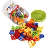 letras de imanes de nevera al por mayor-78 Unids Imán de Nevera Magnética de Color Plástico Número de Letra del Alfabeto Niños Bebé Kid Aprendizaje de Imán de Juguete Educativo Letras