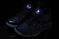 zapatos de paul al por mayor-2018 Nuevas luces UP PG 2 PlayStation Taurus Road Master Zapatillas de baloncesto para Paul George II PG2 2s PS Athletic Sport Sneakers Tamaño 40-46