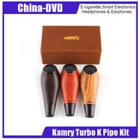 e pipe vape mod achat en gros de-Kit Cigarette électronique 100% Authentique Kamry Turbo K E Vape pipe narguilé 1100mAh 0.5ohm 3.3-4.2V Mods de vapeur en bois 2209025