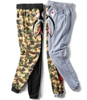 blende les pantalons pour les hommes achat en gros de-Nouvelle Version Homme Pantalon Marque De Mode Coton Mélange Casual Style Pantalon Shark Noir Gris Camouflage Pantalon