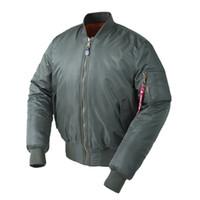 Wholesale waterproof coats plus size women - Plus Size US Air Force Pilot Ma1 Bomber Flight Jacket Men Hip Hop Padded Letterman Winter Waterproof Nylon Puffer Red Women Coat