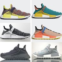 Wholesale Dark Cloud - Wholesale NMD Human Race Pharrell Williams Hu Trail NERD Men Womens BBC Running Shoes NMD Clouds Moon Noble Ink sports Shoes Size 13