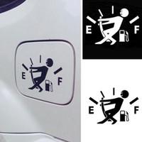 carro da etiqueta do estilo do jdm venda por atacado-10 CM * 14 CM Engraçado Adesivos de Carro Alto Consumo de Gás Decalque de Combustível Gage Vazio Adesivos de Vinil JDM Adesivos de Carro Estilo Do Carro