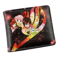 Wholesale white tail cosplay - Cosplay Fairy Tail Anime Leather Wallet Etherious Natsu Dragneel Card Pouch Student Casual Purse Folding Short Money Bag Type B