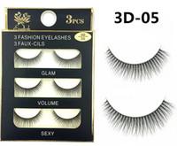 synthetic false eyelashes Australia - 05-wholesale Fashion 3D False faux mink Eyelashes Natural Lash Black Full Strip Fake Lashes Makeup 3D synthetic eyelashes