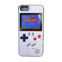 consoles lcd venda por atacado-Mini handheld jogo consolas phone case silica gel capa protetora máquina de jogo retro jogador cor lcd para iphone6 7 8 8 plus x xs max xr