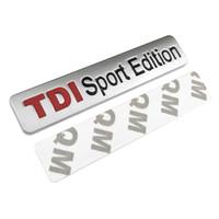 emblème tdi achat en gros de-20pcs / lot métal rouge logo TDI Sport Edition Logo Turbo lettre de voiture autocollant emblème Chrome insignes de décalcomanie pour VW