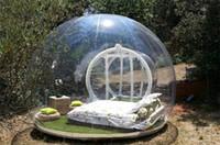 Wholesale transparent inflatable bubble tent resale online - outdoor clear camping bubble tent clear inflatable lawn tent bubble house hotel transparent tent party tents Transparent Viewing Inflatable
