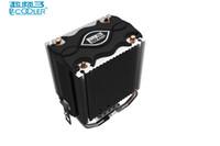ventilateur cpu de 1155 achat en gros de-PcCooler cpu cooler 2 heatpipes 80mm LED blu-ray fan pour Intel LGA775 1150 1151 1155 1156 pour AMD754 AM2 AM2 + AM3 CPU radiateur
