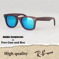 Wholesale Vintage Round Eye Glasses - AAAAA+ Top quality Polarized lens Metal hinge Brand Designer Sunglasses Men Women Plank frame Sport Vintage glasses With cases and box