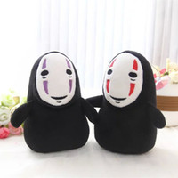 Wholesale ghost plush - 15cm Spirited Away Faceless Man No Face Plush Pendant No Face Ghost Kaonashi Stuffed Plush Toys Doll for Children Kids Gift LA074
