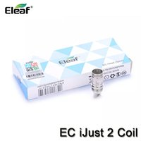 Wholesale eleaf lemo atomizer for sale - Group buy Authentic Eleaf iJust EC Dual Coils Replacement Heads for Eleaf iJust Atomizer Melo Lemo Tank ohm ohm Electronic Cigarette Coil