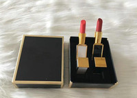 Wholesale two lipsticks for sale - New Brand Makeup set two pieces of lipstick moisturizing and nourishing two pieces of lipstick full size