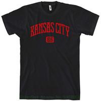 baumwollstadthemd großhandel-Männer Kansas City 816 T-Shirt Männer T-Shirt Print Baumwolle Kurzarm T-Shirt