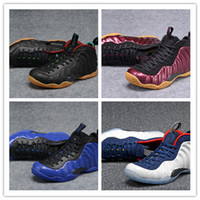 Wholesale polyester foams - 2018 New Arrival Basketball Shoes Penny Hardaway Mens Sports Sneakers Foam One Eggplant Purple Mens Basket ball Shoes comfort and support