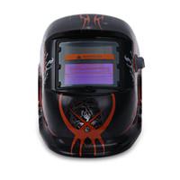 poder de la máscara al por mayor-Tiger Pattern Solar Power Oscurecimiento automático Welding Helmet Mask Eléctrico Oscurecimiento automático MIG MMA Skull Mask Máscara protectora de soldadura Helmet