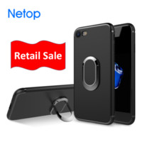 Wholesale magnets for sale free shipping resale online - Retail Sale Netop For Iphone Case Magnet Air vent Phone Holder Gps location Finger Ring for Kickstand
