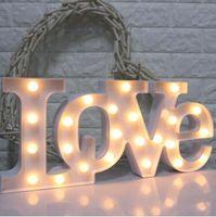 Wholesale romantic love light - LOVE Shaped LED Night Light Romantic Wall Lamps Wedding Party Decoration Warm White Table Lamp Bedroom LED Toys Night Light KKA3934