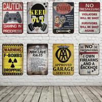 demir adam poster toptan satış-Garaj Hizmeti Man Cave Kural Vintage Poster Metal Tabelalar 20X30 CM Demir Plaka Duvar Dekor Plak Kulübü Ev Bar Mağaza Duvar Resmi