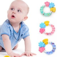 Wholesale toddler infant toys for sale - Baby Teether With Bell Teething Ring Infant Chew Toys Round Teether Safe Bite Toddler Bell Toys Best Gifts KKA5801