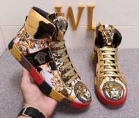 zapatos para correr streetwear al por mayor-2018 Nuevos Hombres Diseñador de Zapatos de Lujo Marca Diseñadores Botas Cortas Streetwear Mens Running Shoes Sneakers Plus Size 38-44
