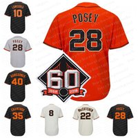 Wholesale baseball joe - 60th Patch 28 Buster Posey 35 Brandon Crawford 40 Madison Bumgarner 8 Hunter Pence 22 A M Evan Longoria Joe Panik Jersey