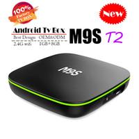ingrosso chip android tv box-2018 economici M9S T2 Android 7.1 Tv Box Quad Core 1 GB 8 GB H3 Chip Supporto Wifi 4K 3D Media Player Smart TV Box Meglio MXQ PRO RK3229