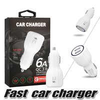Wholesale galaxy custom - For Samsung Galaxy S8 QC 3.0 Fast Car Charger 3.1A Qualcomm Quick Charge Dual Usb Port For iPhone 8 Plus With Retail Package