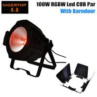 Wholesale Active Sound Design - COB Led 100W Par Light With Barndoor Design Casting Aluminum Case RGBW 4IN1 Color Stage Light CE Certificate