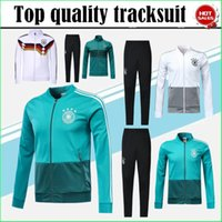 Wholesale germany suits - 2018 world cup Germany jacket tracksuit 18 19 germany Survetement Football Chandal MULLER OZIL Soccer zipper jacket Training suit kits