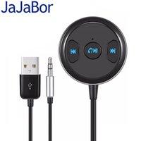 ingrosso ricevitore vocale-JaJaBor Kit veicolare Bluetooth Vivavoce Chiamata Wireless AUX Audio Music Receiver Car MP3 Player Supporta SIRI Voice Assistant