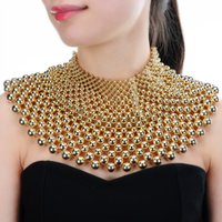collares del babero al por mayor-JEROLLIN 4 Color Chunky Regin Collar Llamativo Para Las Mujeres Cuello Bib Collar Gargantilla Collar Maxi Joyería Bijoux