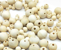 Free Shipping 500pcs Natural Round Loose Wood Beads Spacer Beads For Jewelry Making European DIY 6 8 10 12 14mm
