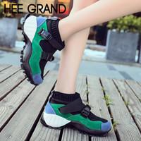 встряхнуть обувь кроссовки оптовых-ХИ ГРАНД Женская мода Обувь Дышащая Shake Shoes Пряжки Ремешок Мокасины Легкие Shake Подошва Кроссовки Mujer XWD6910