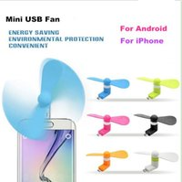 Wholesale fans edges resale online - Mini USB Fan Flexible Portable Super Mute Cooler Cooling For Android Samsung S7 edge Phone mini fan With Package
