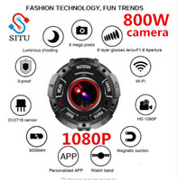 Wholesale mini dv sports recorder resale online - SITU Lightdow Watch Style Mini DV Camera HD Waterproof Recorder WIFI Direct Camera Night Vision Outdoor sport watch