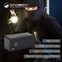 Wholesale h 264 dvr ip camera for sale - Group buy T7 Clock Camera Alarm Setting P HD H IP Mini Kamera Night Vision Table Clock Camera Video Cam Mini DV DVR Camcorder