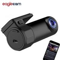 wifi çizgi kamerası toptan satış-Dash kamera WIFI Araba DVR Kamera Dijital Kayıt Video Kaydedici DashCam Yol Kamera APP Monitör Gece Görüş Kablosuz DVR