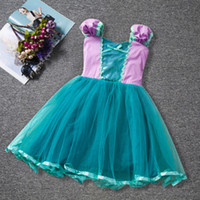las niñas visten multicapa al por mayor-INS Ropa para niños Cinderella Princess Dress Cintura arco Multilayer Mesh Color Matching Girls Película Tutu Vestido Baby Girls Vestidos
