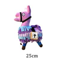 Wholesale action figure new - High Quality 25cm 34cm Fortnite Troll Stash Llama Figure Soft Stuffed Doll Animal Cartoon Toys Action Figure Toys Kids Birthday Party Gift