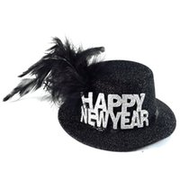 Wholesale Fun Christmas Hats - 2017 party decoration new year hat Halloween witch hat on headband festive event party supplies fun decoration Christmas gift