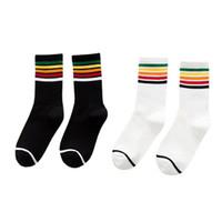 calcetines de estilo preppy al por mayor-60PAIRS / LOT SINGYOU Nuevo Rainbow Color Mujer Calcetines Casual Preppy Style Harajuku Socks Ladies Girl Algodón Calcetines cortos