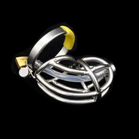Wholesale urethral chastity device cocks tubes for sale - Group buy Urethral Catheter Stretching Tube Penis Ring Penis Cage sex toys for men metal Cock Cage sex product Male Chastity Device