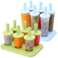 Wholesale plastic popsicle molds - Hot sale Creatived Ice Cream Molds Popsicle Molds Ice Cream Tools Summer DIY Ice making mould T3I0270