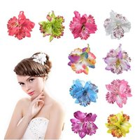 Wholesale christmas hair accessory online - Pretty cm Charm Orchid Flower Hair Clip Foam Hair Accessory Frangipani Hairgrips Hairpin Hair Clips Girl Barrettes