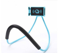 Wholesale neck phone holders for sale – best 2018 Lazy Bracket Universal Degree Rotation Flexible Hanging Phone Selfie Holder Neck Bed Mount Anti skid Support For iPhone free DHL