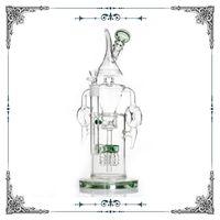 кальян специальный дизайн bong оптовых-13.5 дюймов стекло барботер бонги ежик дизайн водопроводные трубы специальный перколятор стекло бонг кальян курение водопровод высокий бонг feer доставка