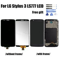 Wholesale For LG Stylus LS777 LCD Display and Touch Screen Digitizer Assembly with Frame or No frame lcd for stylus