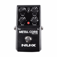 Wholesale nux guitar effects resale online - NEW NUX Upgraded Metal Core Deluxe Distortion Guitar effects Pedal classic metal and modern extreme heavy metal guitarra pedal